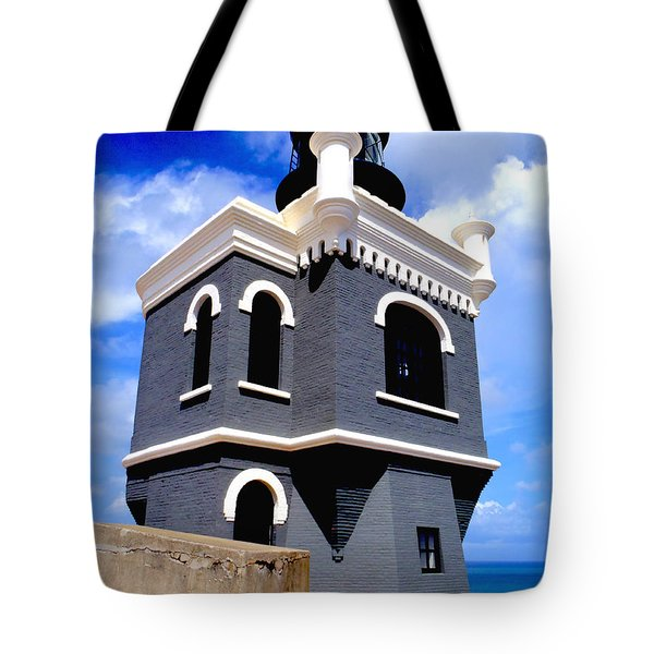 El Morro Lighthouse Tote Bag by Carey Chen