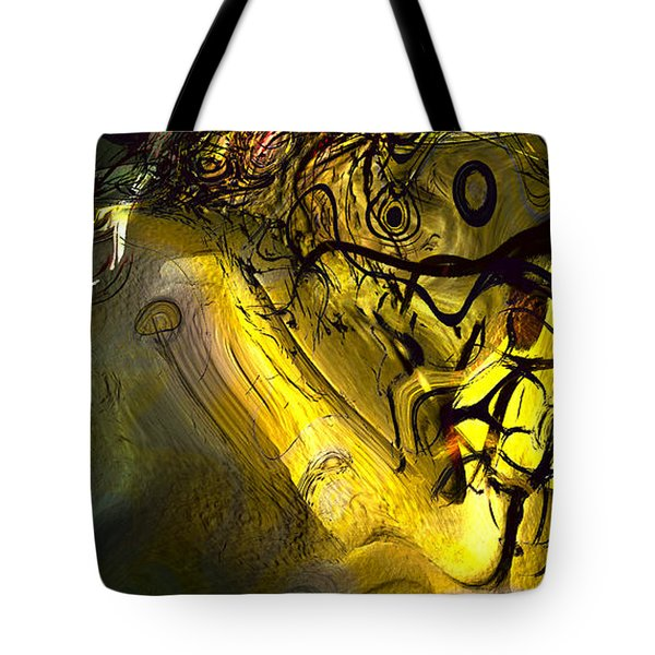 Tote Bag featuring the digital art Elaboration Of Day Into Dream by Richard Thomas