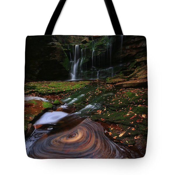 Tote Bag featuring the photograph Elakala Falls by Jaki Miller