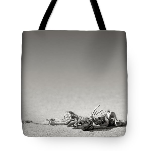 Eland Skeleton In Desert Tote Bag by Johan Swanepoel