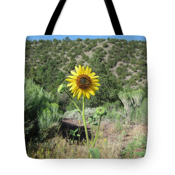 Elated Sunflower Tote Bag