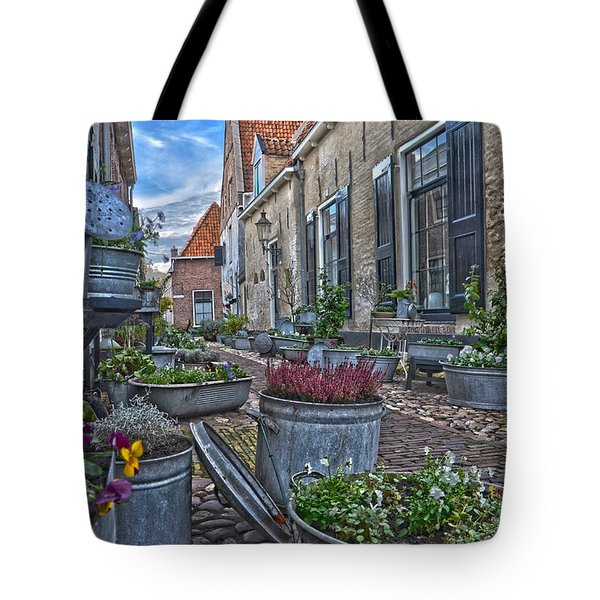Tote Bag featuring the photograph Elburg Alley by Frans Blok