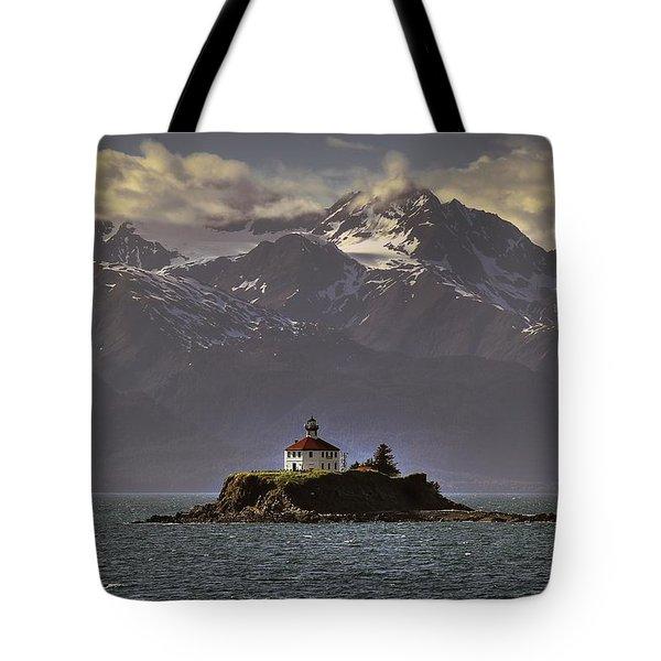 Eldred Rock Lighthouse Alaska Tote Bag