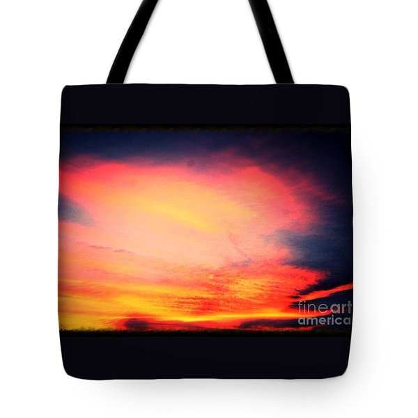 Electric Angel Playing A Harp In The Sky  Tote Bag by Kimberlee Baxter