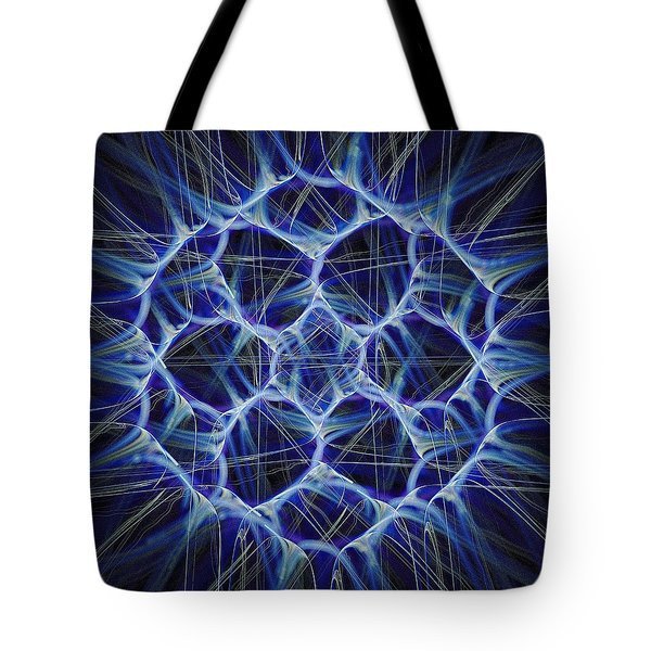 Electric Blue Tote Bag by Anastasiya Malakhova