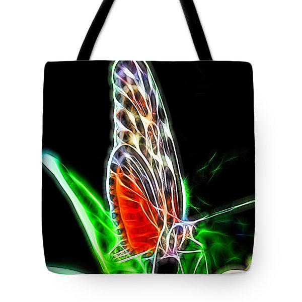 Electric Butterfly Tote Bag