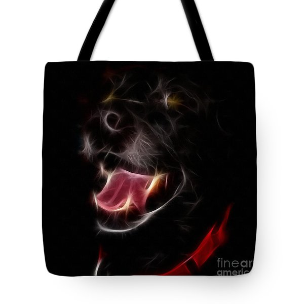 Electric Canine Tote Bag by Barbara Griffin