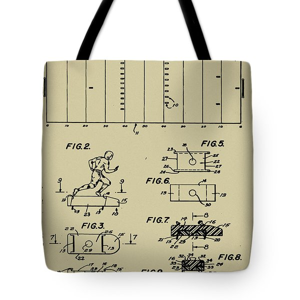 Electric Football Patent Tote Bag by Bill Cannon