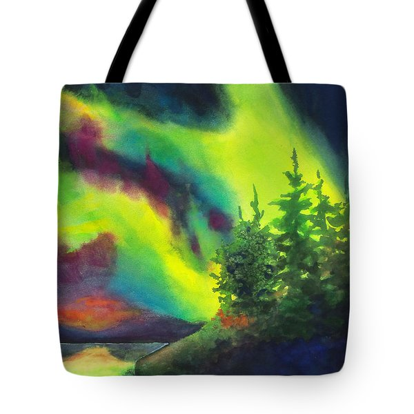 Electric Green In The Sky 2 Tote Bag