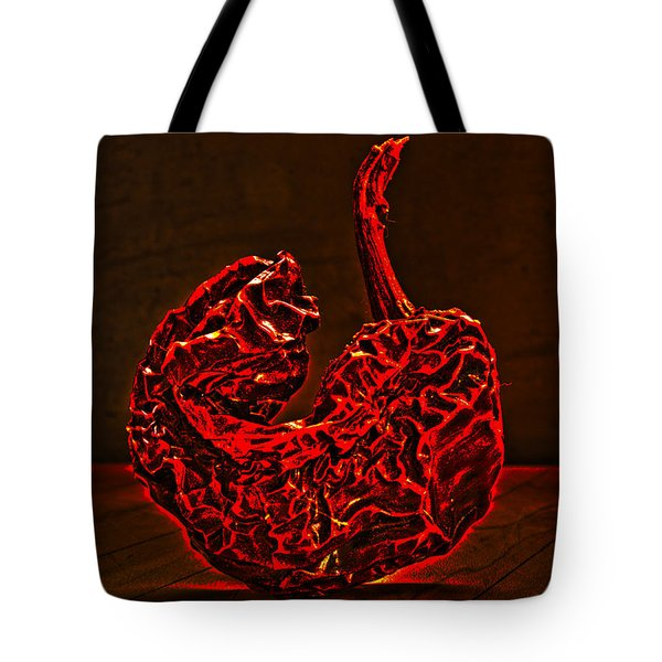Electric Red Pepper Tote Bag