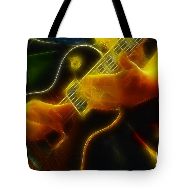 Electric Slide Fractal Tote Bag by Gary Gingrich Galleries