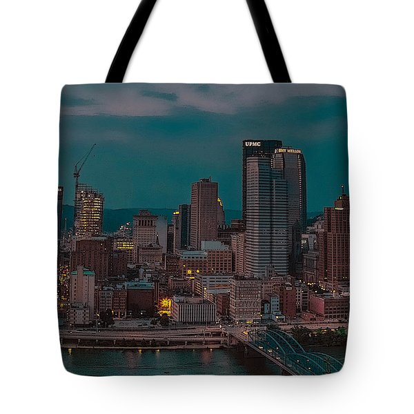 Electric Steel City Tote Bag