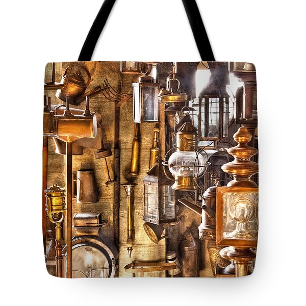 Electrician - Let There Be Light Tote Bag by Mike Savad