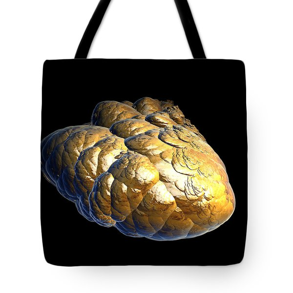 Tote Bag featuring the digital art Electrified Gold Nugget by Pete Trenholm