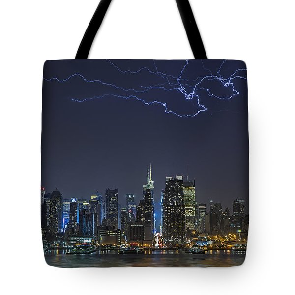 Electrifying New York City Tote Bag by Susan Candelario