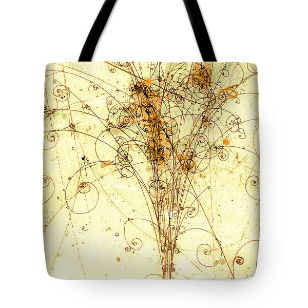 Electron Positron Particle Shower Tote Bag