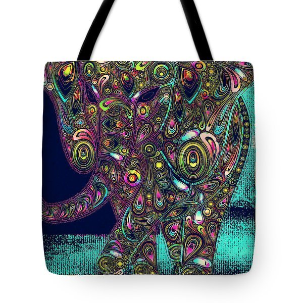 Elefantos - Ptjs01a Tote Bag by Variance Collections