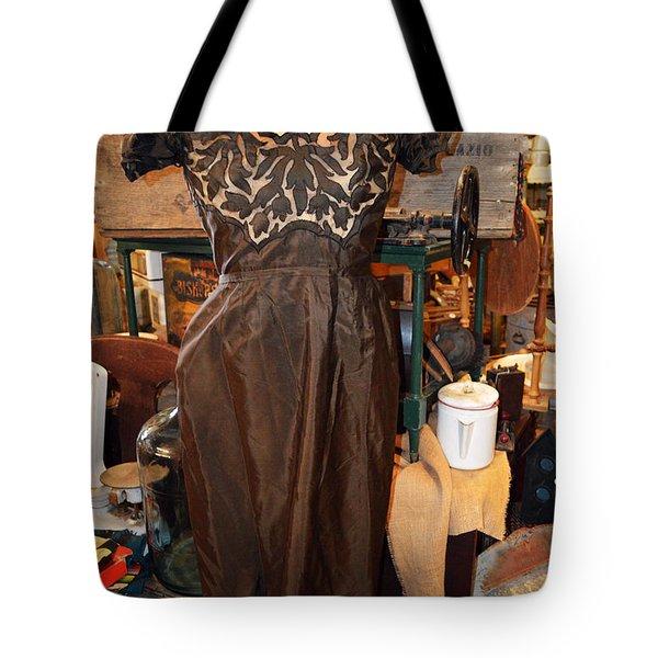 Elegance In Brown Tote Bag by Cindy Nunn