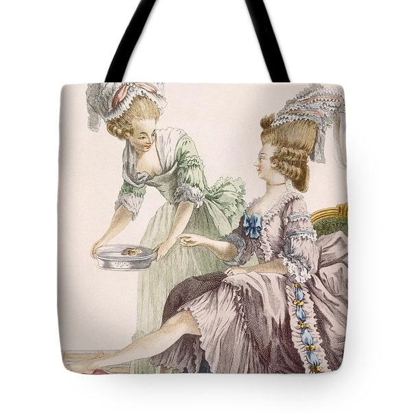 Elegant Lady Having Her Feet Washed Tote Bag by Pierre Thomas Le Clerc