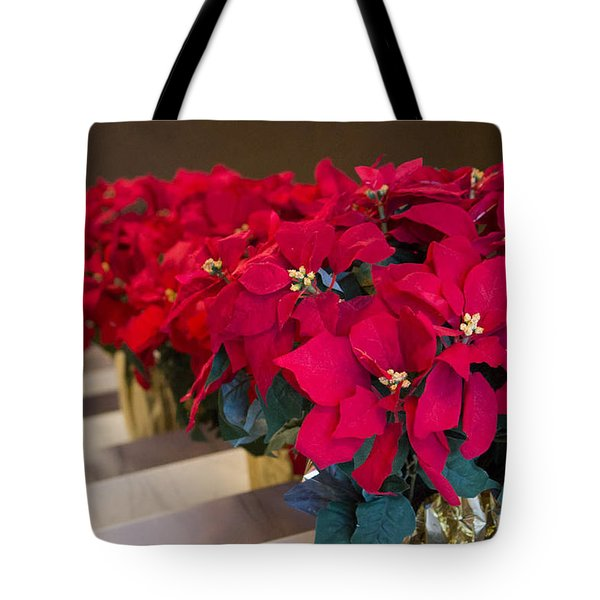 Tote Bag featuring the photograph Elegant Poinsettias by Patricia Babbitt