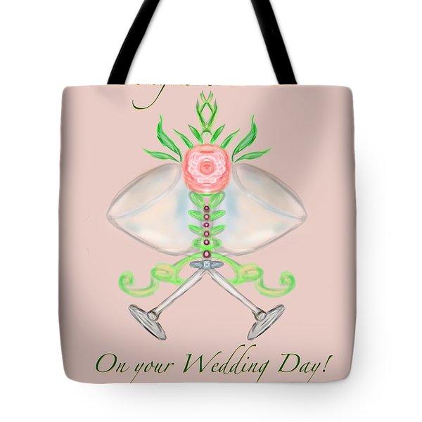 Tote Bag featuring the digital art Elegant Wedding by Christine Fournier