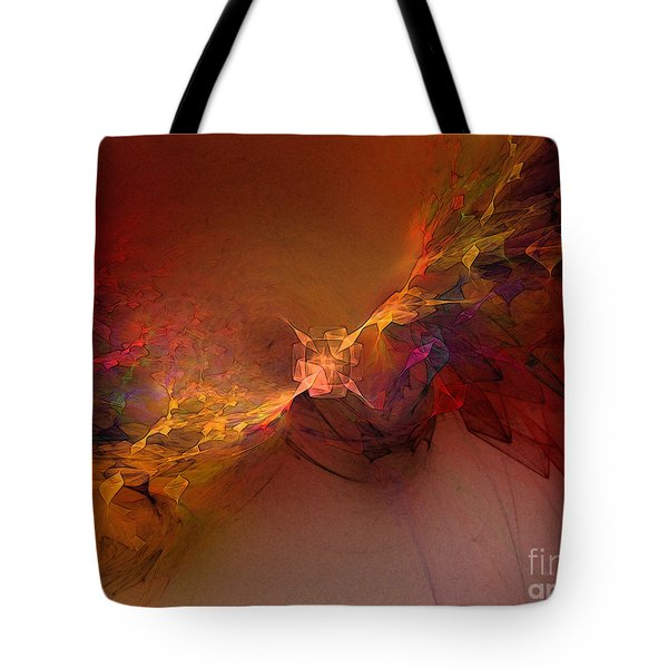 Elemental Force-abstract Art Tote Bag