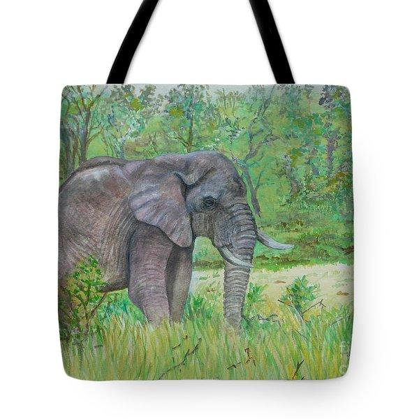 Elephant At Kruger Tote Bag by Caroline Street