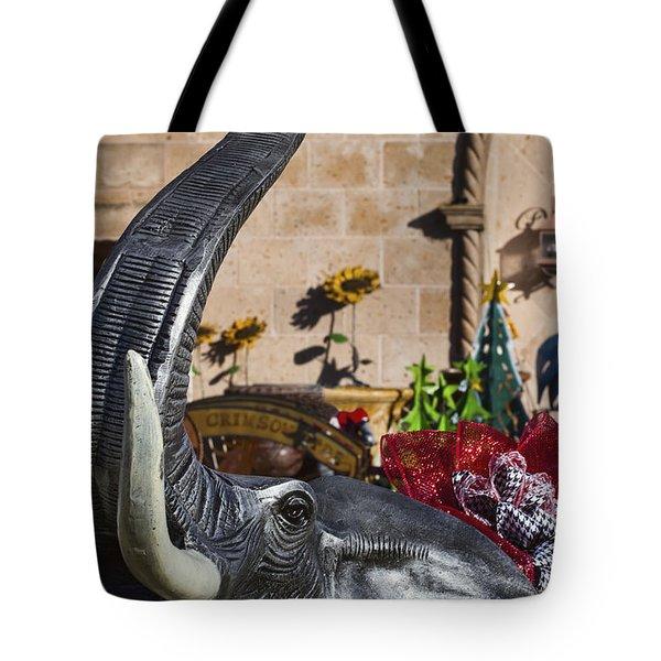 Elephant Celebration Tote Bag by Kathy Clark