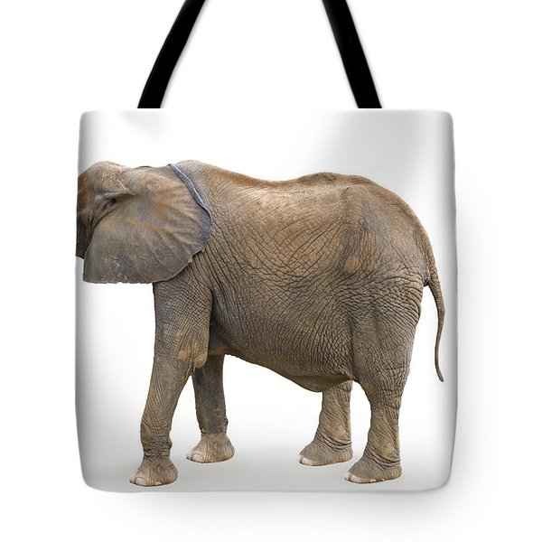 Tote Bag featuring the photograph Elephant by Charles Beeler