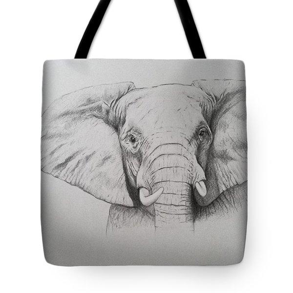 Elephant Tote Bag by Ele Grafton