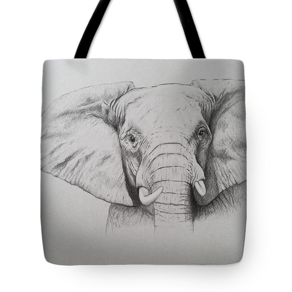 Elephant Tote Bag by Ele Grafton