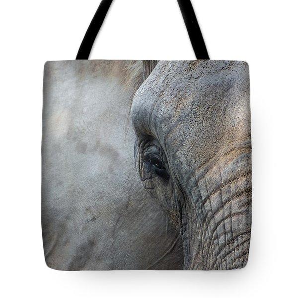 Elephant Portrait Tote Bag