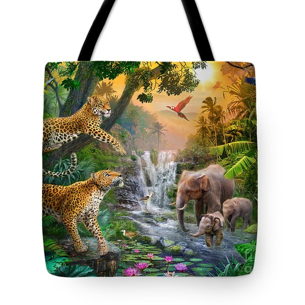 Elephant Falls Tote Bag by Jan Patrik Krasny