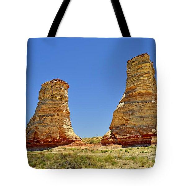 Elephant Feet Rocks Arizona Tote Bag by Christine Till