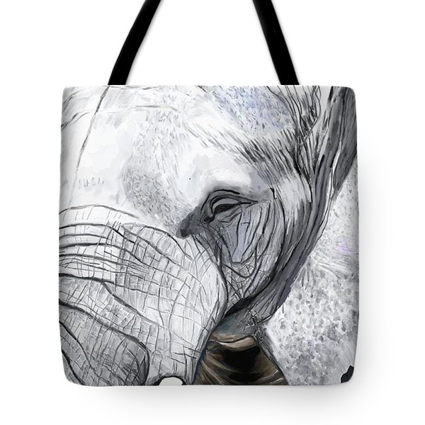 Elephant II Tote Bag by Jeanne Fischer