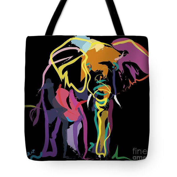 Elephant In Colour Tote Bag