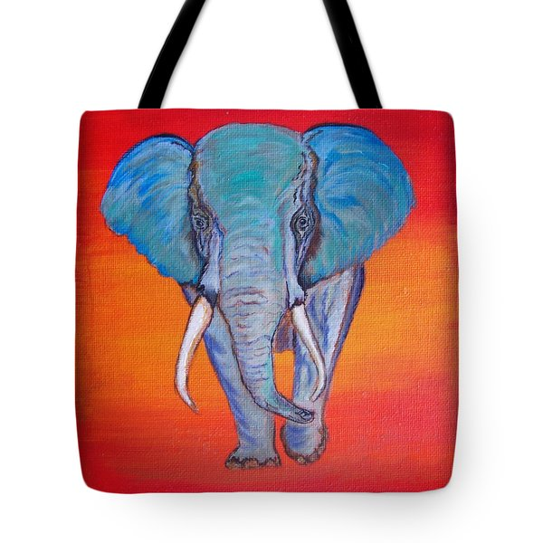 Tote Bag featuring the painting Elephant Matriarch by Ella Kaye Dickey