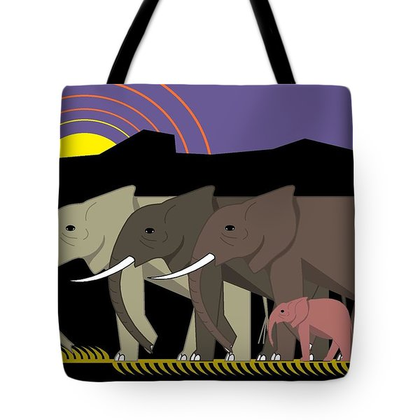 Elephant Parade Tote Bag