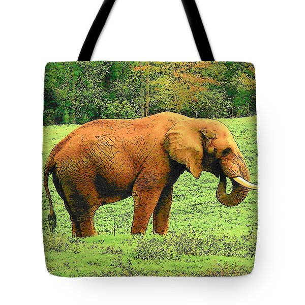 Tote Bag featuring the photograph Elephant by Rodney Lee Williams