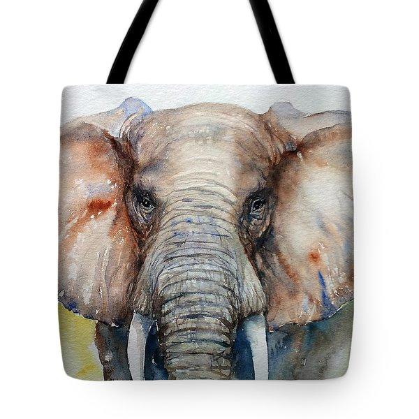 Elephant_chestnut Brown Tote Bag