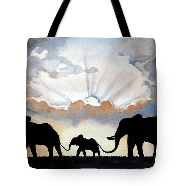 Elephants Tote Bag