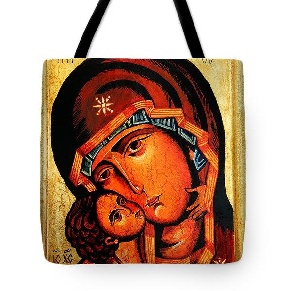 Eleusa Icon Tote Bag by Ryszard Sleczka