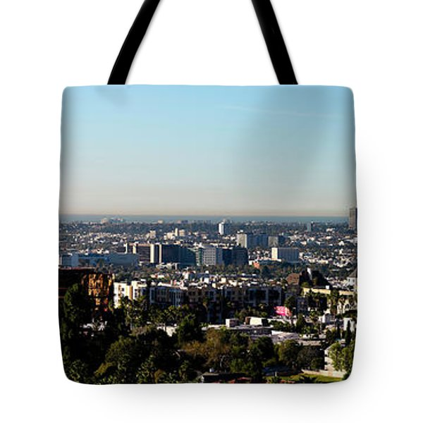 Elevated View Of City, Los Angeles Tote Bag