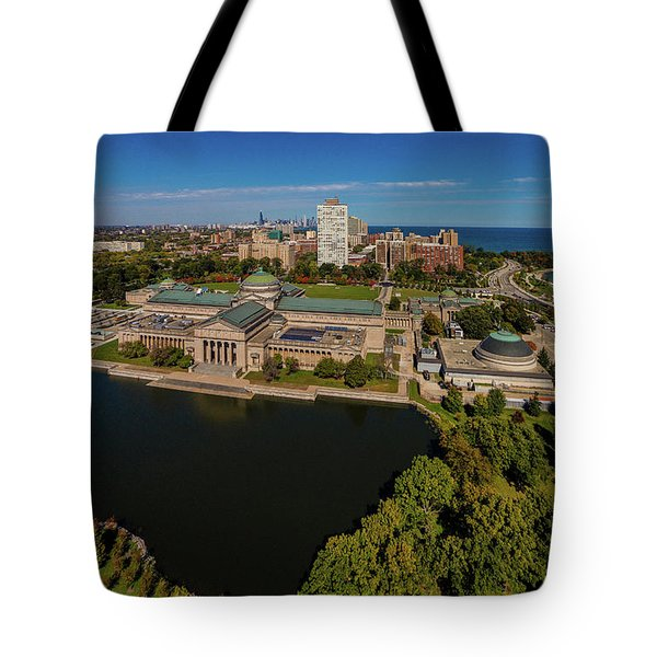 Elevated View Of The Museum Of Science Tote Bag