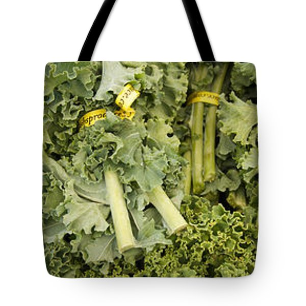 Elevated View Of Vegetables At Market Tote Bag