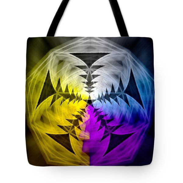 Tote Bag featuring the drawing Eleven Magick Stars by Derek Gedney