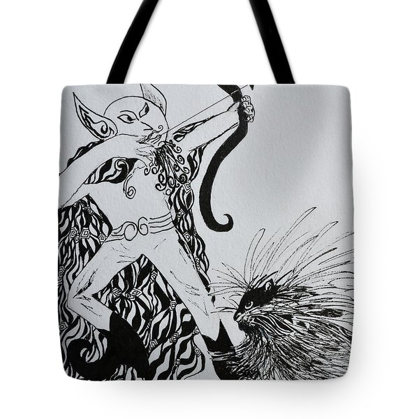 Elf And Porcupine Tote Bag by Beverley Harper Tinsley