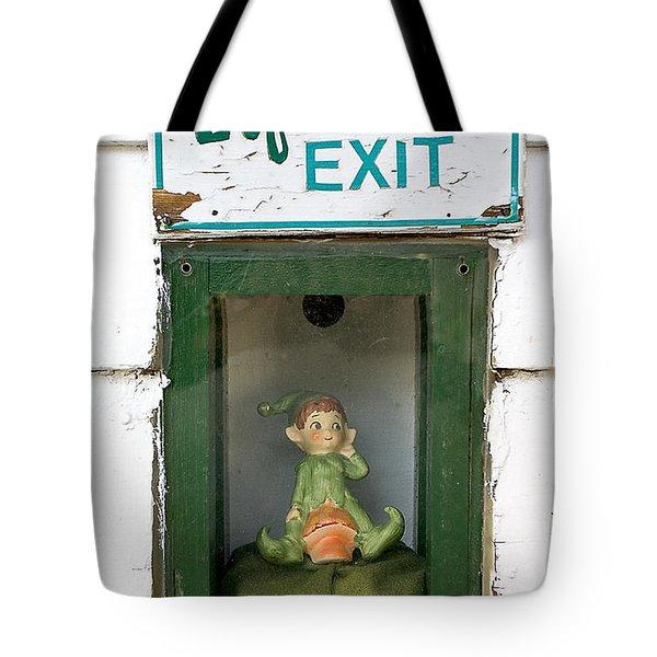 elf exit, Dubuque, Iowa Tote Bag