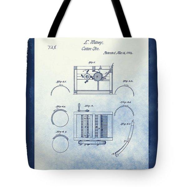 Eli Whitney's Cotton Gin Patent Tote Bag
