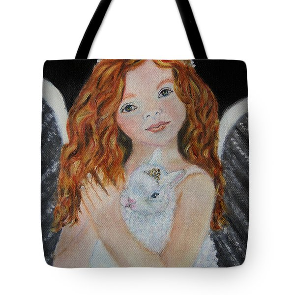 Eliana Little Angel Of Answered Prayers Tote Bag by The Art With A Heart By Charlotte Phillips